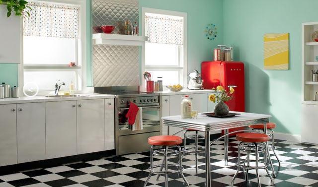 interior design cucina anni '50
